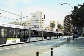 Airport-s'Arenal tram route proposals