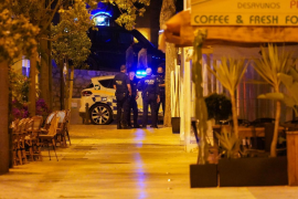 Police in Ibiza during the curfew