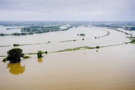 Flooding near the Limburg hamlet of Aasterberg