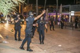 National Police in Playa de Palma, Mallorca