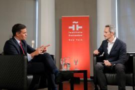 Sanchez met in New York with several major investors including Bloomberg and BlackRock Inc.