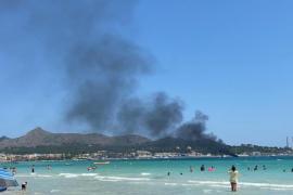 Boat fire drama in Alcudia