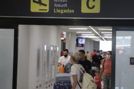 British tourists arriving at Palma airport this week