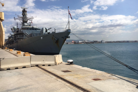 Royal Navy frigate sails into Palma for brief visit