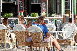 Tourists on the Playa de Palma