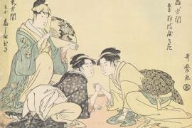 "Kitagawa Utamaro. ""Fight with the hands,"" 1793"