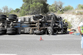 Fatal lorry accident in Porreres