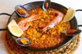 The paella had good seafood flavours