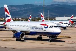 British Airways planes at Palma airport