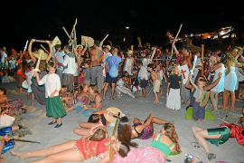 Moors and Christians battle it out on Sant Elm beach