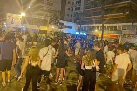 Gathering of young people in Playa de Palma, Mallorca