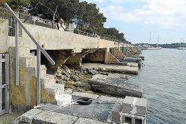 Boatsheds in Portocolom, Mallorca