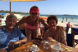 With my wonderful parents at Es Dolç beach. Happy birthday, mum!