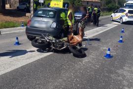 Road accident in Alcudia, Mallorca