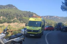 Cyclist in accident in Mallorca's mountains