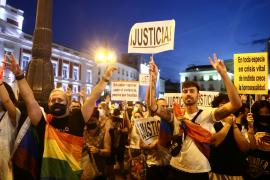 LGBTIQ activists and supporters protest against homophobic crimes, in Madrid