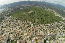 New children's playground in Bellver Forest in Palma