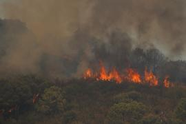 Wildfire on Sierra Bermeja mountain