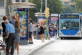 AN EMT bus in Palma, Mallorca