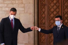 Catalonia's regional President Aragones meets Spanish PM Sanchez, in Barcelona