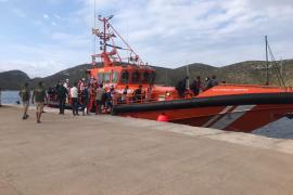 Maritime Safety Agency boat in the Balearics transferring migrants
