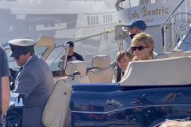 Elizabeth Debicki as Lady Diana in the Club de Mar in Palma