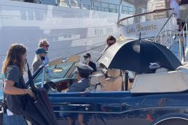 Onasis yacht used in Palma filming of The Crown