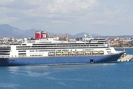 """First visit of the cruise ship """"Bolette"""" to Palma"""