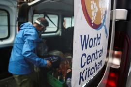 Pablo Pais, a volunteer of NGO World Central Kitchen