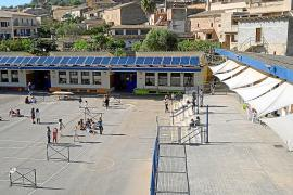 Solar panels on the roof of a school in Mallorca