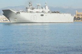 Flagship of the Spanish navy makes debut visit to Palma