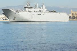 Flagship of the Spanish navy makes debut visit to Palma