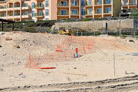 Cala Mesquida beach being restored after oil spill