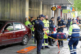 Driver mows down five pedestrians in central Palma