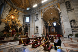 Easter rites at St Peter's Basilica, Rome