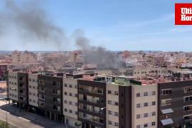 Fire in Calle Pablo Iglesias, Palma.