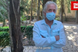 Interview with Michael Douglas in Mallorca.