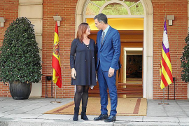 President Armengol of the Balearics and Prime Minister Sánchez