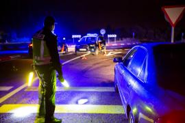 Police control in Aranda (Burgos)