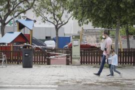 Closed children's playground in Mallorca