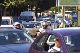 Traffic in Palma, Mallorca