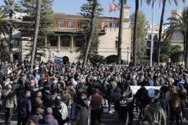 Protestors in Palma.