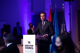 Pedro Sánchez, speaking at the meeting of the World Tourism Organization's executive council