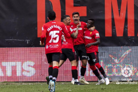 Real Mallorca celebrate against Rayo Vallecano