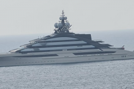 Super yacht off Portals.