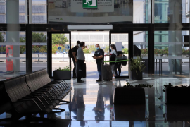 Travellers at Palma Son Sant Joan Airport