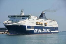 Grimaldi Lines Ferry.