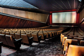 Inside of the cinema Lumiere