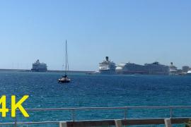 5 cruise ships in Palma, Majorca at the same time