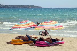 People on the beach in Playa de Palma, Mallorca